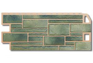 Фасадная панель Альта-Профиль Камень 1130х470х2 мм Малахит