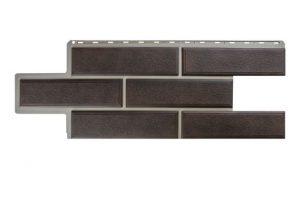 Фасадная панель Альта-Профиль Камень Венецианский 1250х450х2,6 мм коричневый