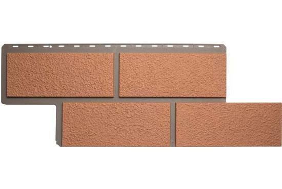 Камінь Неаполітанський Персиковий Фасадна панель Альта-Профіль, 1250х450х2,6мм