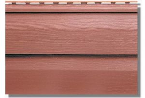 Сайдинг акриловый Альта-Профиль KANADA Плюс Премиум двухпереломный 3660х230х1,1 мм красно-коричневый