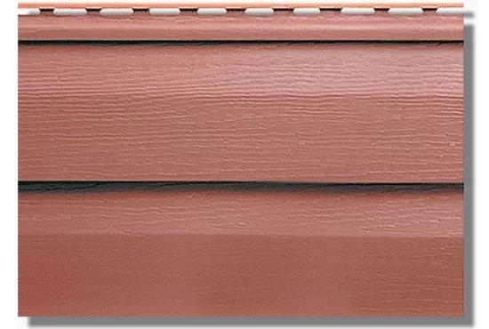 Сайдинг KANADA Плюс Преміум Червоно-коричневий акриловий, двопереломний, Альта-Профіль, 3660х230х1,1 мм
