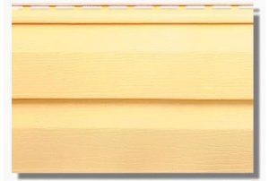 Сайдинг виниловый Альта-Профиль KANADA Плюс Престиж двухпереломный 3660х230х1,1 мм желтый