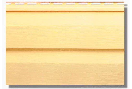 Сайдинг KANADA Плюс Преміум Жовтий акриловий, двопереломний, Альта-Профіль, 3660х230х1,1 мм