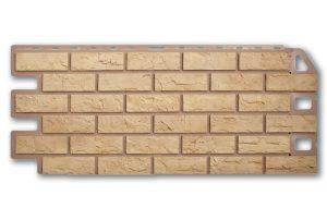 Фасадная панель Альта-Профиль Кирпич 1130х470х2 мм Желтый
