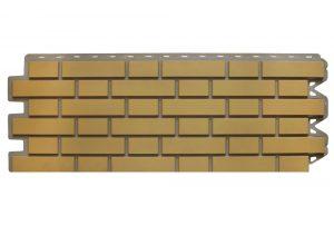 Клинкерный кирпич Бежевый, Фасадная панель, 122х440х2мм