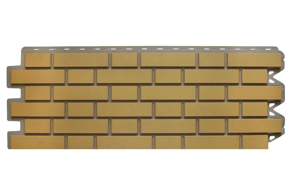 Клінкерна цегла Бежева, Фасадна панель, 122х440х2мм