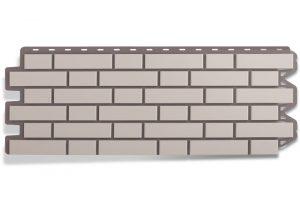 Фасадная панель Альта-Профиль Клинкерный кирпич 122х440х2 мм Белый