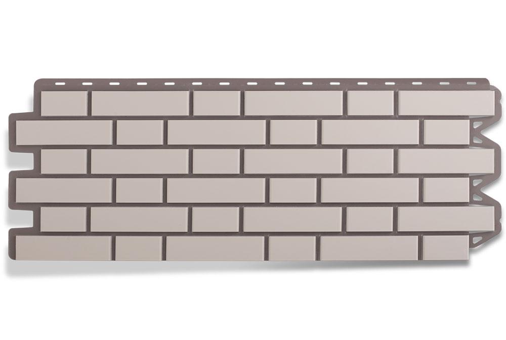 Клінкерна цегла Біла Фасадна панель, 122х440х2мм