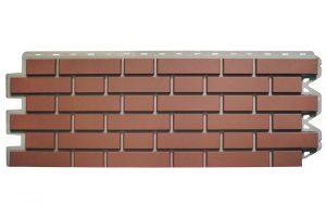Фасадная панель Альта-Профиль Клинкерный кирпич 122х440х2 мм Жженый
