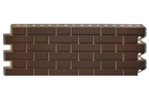 Фасадная панель Альта-Профиль Клинкерный кирпич 122х440х2 мм Коричневый