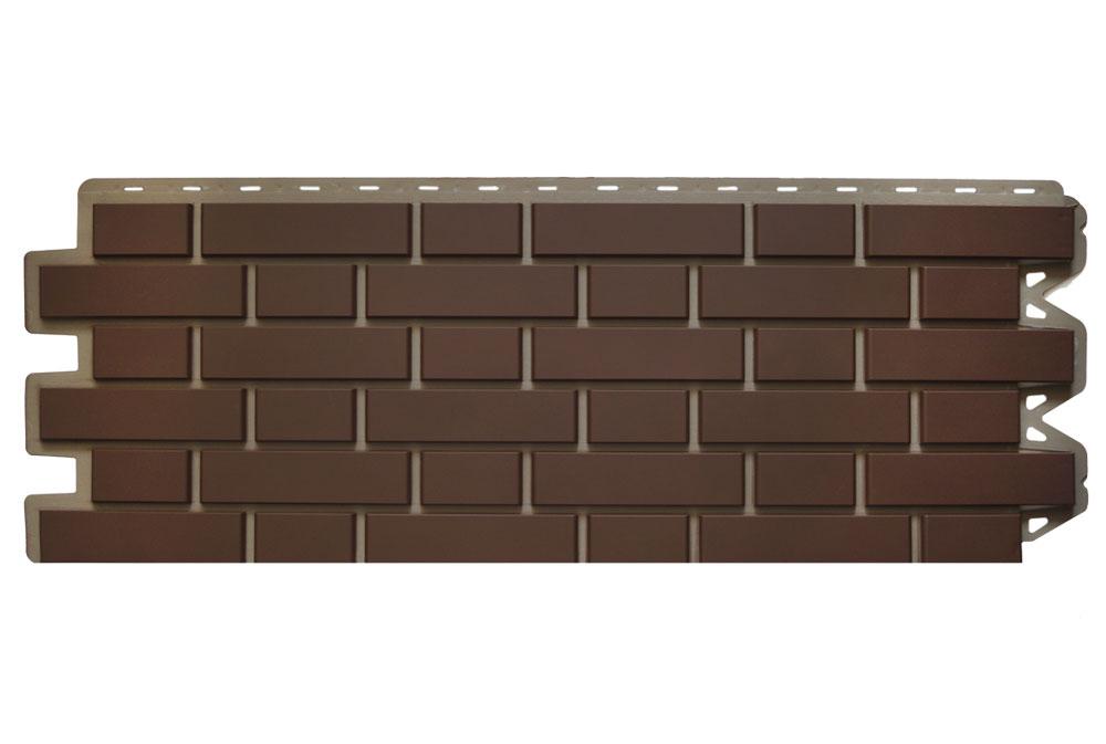 Клінкерна цегла Коричнева Фасадна панель, 122х440х2мм