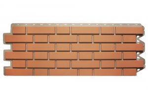 Клинкерный кирпич Красный, Фасадная панель, 122х440х2мм
