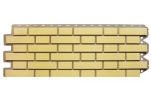 Клинкерный кирпич Желтый, Фасадная панель, 122х440х2мм