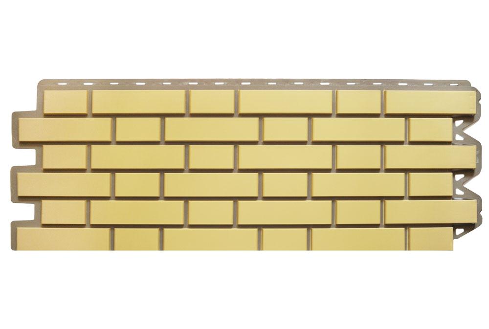 Клінкерна цегла Жовта, Фасадна панель, 122х440х2мм