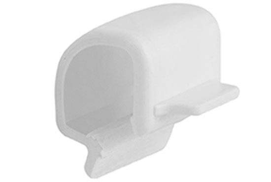 Кліпса ПВХ Стандарт 74 мм Біла, Альта-Профіль