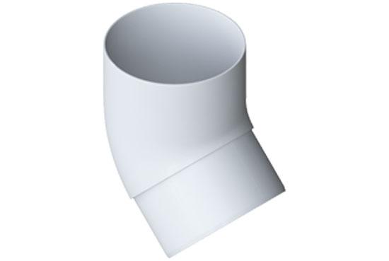 Коліно труби Еліт 45 градусів 95 мм Білий, Альта-Профіль
