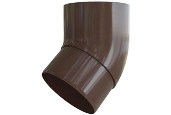 Коліно труби Еліт 45 градусів 95 мм Коричневий, Альта-Профіль