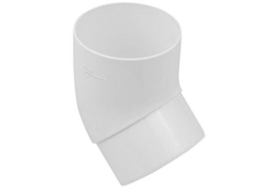 Колено трубы Альта-Профиль Стандарт 45 градусов 74 мм белый
