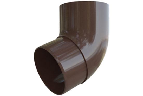 Коліно труби Еліт 67 градусів 95 мм Коричневий, Альта-Профіль