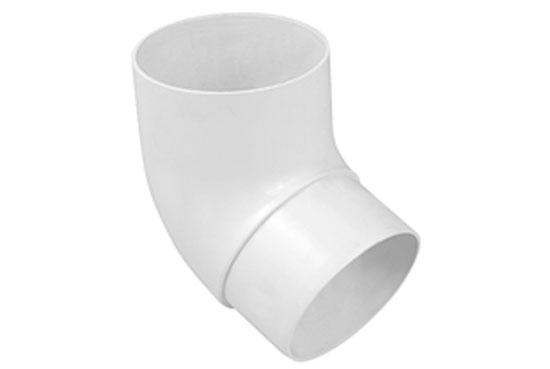 Колено трубы Альта-Профиль Стандарт 67 градусов 74 мм белый