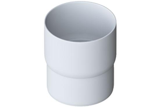 Муфта труби Еліт 95 мм Білий, Альта-Профіль