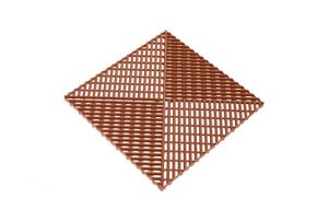 Решетка с дополнительным обрамлением коричневая 400х400 мм