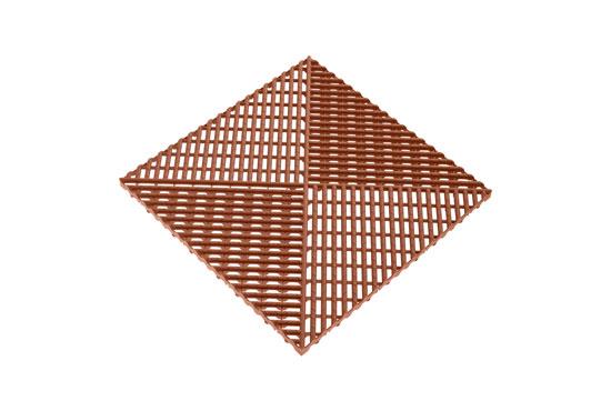 Решітка з додатковим обрамленнням коричнева 400х400 мм