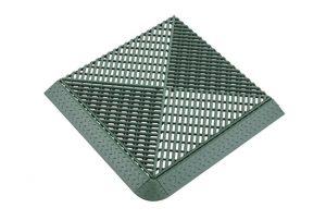 Решетка с дополнительным обрамлением зеленая 400х400 мм