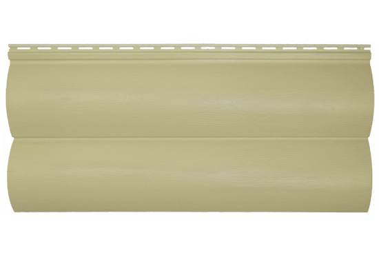 Сайдинг BlockHouse Slim бежевий двопереломний, 3660х230×1,1 мм