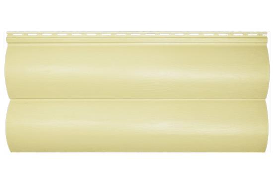Сайдинг BlockHouse Slim кремовий двопереломний, 3660х230×1,1 мм