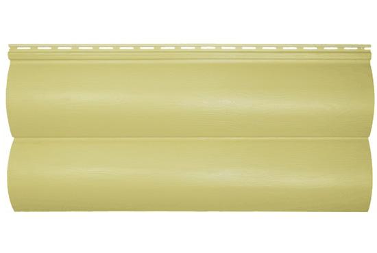 Сайдинг BlockHouse Slim лимонний двопереломний, 3660х230×1,1 мм