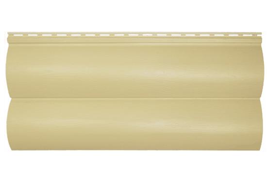 Сайдинг BlockHouse Slim пісочний двопереломний, 3660х230×1,1 мм