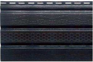 Софит Т-20 с частичной перфорацией 3000х230 мм графитовый