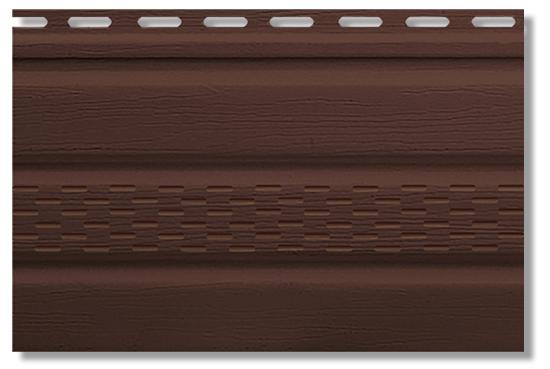 Софит коричневый с перфорацией t20