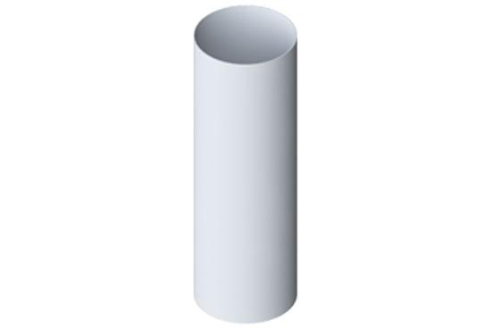 Труба водостічна Еліт 95 мм 3 м Білий, Альта-Профіль