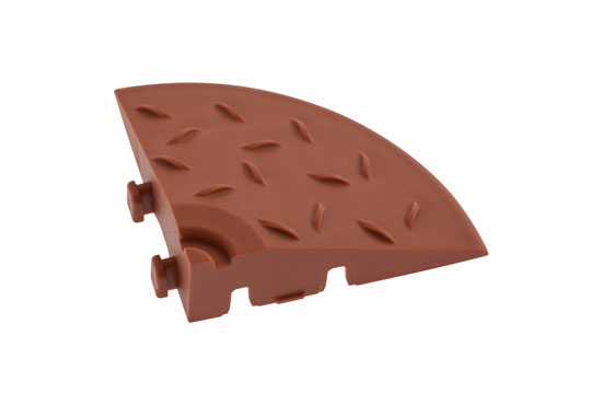 Кутовий елемент обрамлення газонної решітки, коричневий