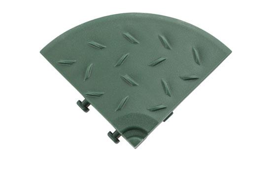 Кутовий елемент обрамлення газонної решітки, зелений