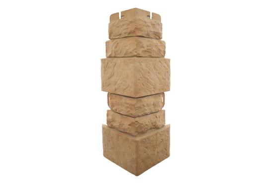 Зовнішній кут Фасадна плитка Травертин Альта-Профіль, 0,45х0,16м