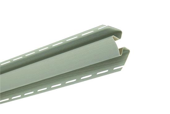 """Планка """"внутрішній кут"""" Alta-Siding сіро-зелена 3050 мм"""