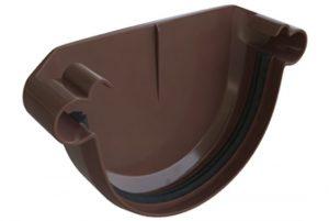 Заглушка желоба Альта-Профиль Элит 125 мм коричневый