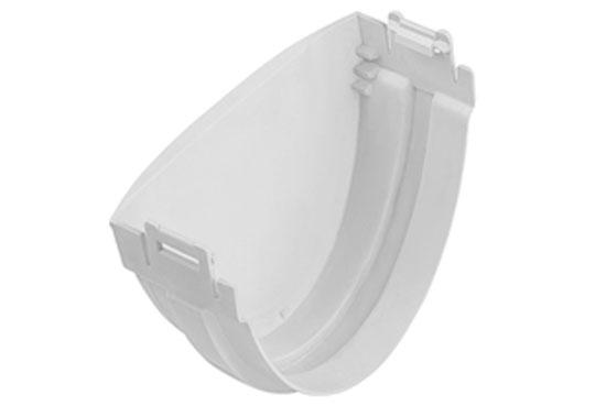 Заглушка ринви Стандарт 74 мм Біла, Альта-Профіль